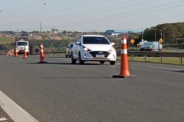 Rodovia D. Pedro I em Atibaia terá interdição no km 75 hoje