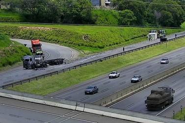 Rodovia D. Pedro I está com manutenção dos bloqueios na região