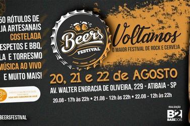 Cerveja artesanal, comida boa e Rock and Roll: Beer's Festival agita Atibaia