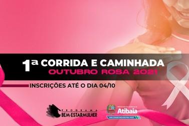 """Prefeitura realiza """"1ª Corrida e Caminhada Outubro Rosa Atibaia 2021"""""""