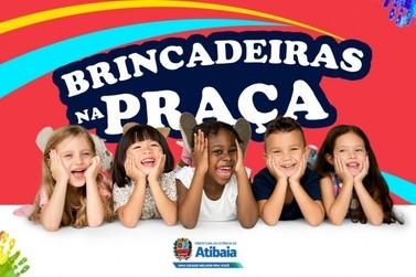 """Atibaia promove """"Brincadeiras na Praça"""" em comemoração ao Dia das Crianças"""