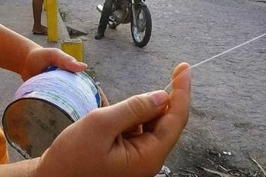 Estado lança campanha para alertar sobre riscos do cerol e da linha chilena