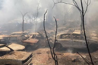 Incêndio atinge Pátio de Remoção e Guardas de Veículos do 'Zé Cruz'