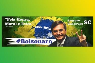 Seguidores de Bolsonaro vão inaugurar outdoor em Brusque