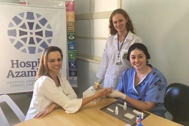 Enfermeiros do Hospital Azambuja passam por treinamento de testes rápidos