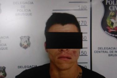 Identificado um dos suspeitos de roubar estabelecimento comercial em Brusque