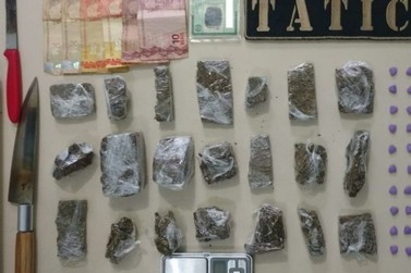 Jovem de 18 anos é preso por tráfico de drogas, no Steffen