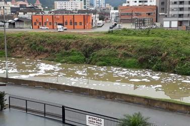 Leitores denunciam descarte irregular de substâncias no Rio Itajaí Mirim