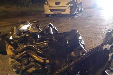 Motociclista fica gravemente ferido após colisão frontal, em Guabiruba