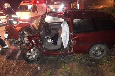 Homem tem ferimentos graves em acidente na Gentil Batistti Archer
