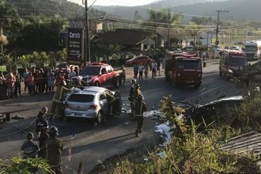 Três morrem e dois ficam feridos em acidente na BR-470