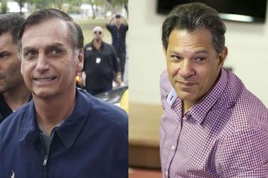 Às vésperas das eleições, Bolsonaro e Haddad têm agendas lotadas