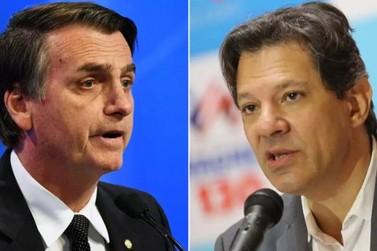 Jair Bolsonaro e Fernando Haddad se enfrentam no segundo turno