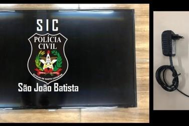 Objetos furtados são recuperados pela Polícia Civil de São João Batista