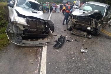 Vítimas de colisão envolvendo duas caminhonetes em Botuverá são identificadas
