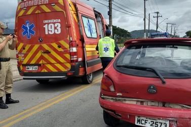 Idoso fica ferido em acidente de trânsito, no Limoeiro