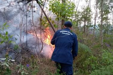 Incêndio atinge mais de 10 mil metros quadrados de área florestal em Guabiruba
