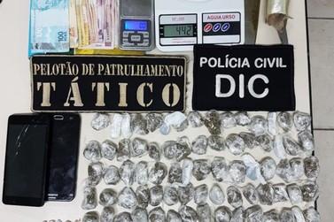 Ponto de drogas no bairro Azambuja é desmontado pela Polícia Civil e Militar
