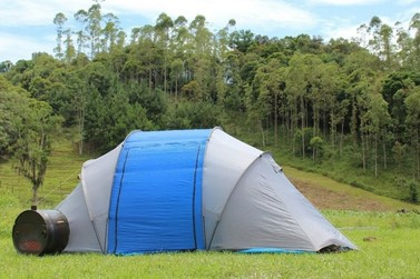 Camping em Guabiruba atrai visitantes de outros estados do Brasil