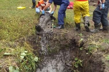Em Otacílio Costa, idoso é resgatado depois de passar a noite em fossa
