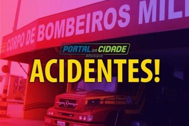Homens são encaminhados ao hospital depois de atropelamento