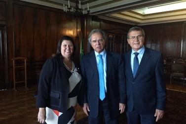Presidente eleita da AciBr, Rita Conti, se encontra com Paulo Guedes no RJ