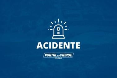 Acidente no Jardim Maluche deixa motociclista ferido