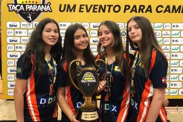 Atletas de Brusque são campeãs da Taça-Paraná Sub-14 pelo município de Gaspar