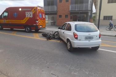 Homem fica ferido em acidente na General Osório