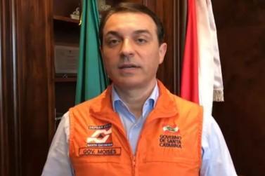 Governador Carlos Moisés (PSL) anuncia a prorrogação de isolamento social em SC