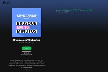 Portal da Cidade Brusque lança podcast