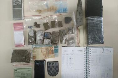 Tático de Brusque apreende maconha, haxixe, skank, MD e ecstasy no Santa Rita