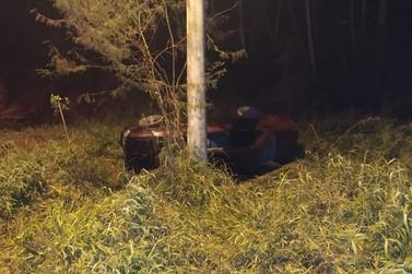 Bombeiros atendem capotamento na rodovia Pedro Merisio