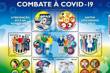 Correios lançam selos em homenagem a ações de combate à pandemia