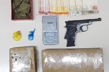 Polícia prende homem portando drogas, no Dom Joaquim