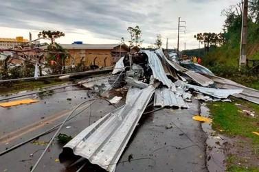 Santa Catarina decreta calamidade pública após danos causados por ciclone