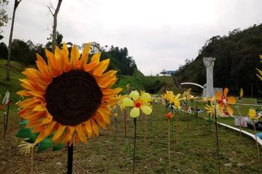 Parque das Esculturas recebe exposição Flores da Esperança