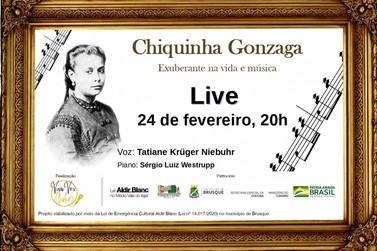Lei Aldir Blanc: Live sobre Chiquinha Gonzaga ocorre na próxima semana