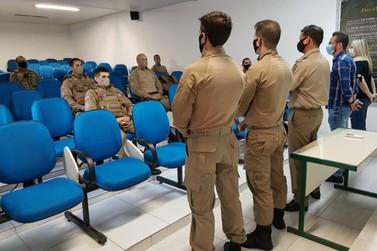 Polícia Militar de Brusque recebe reforço para operação contra pandemia