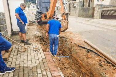 Samae realiza última etapa de obra no bairro Guarani, neste domingo (21)