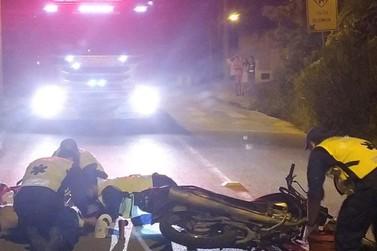 Dom Joaquim: motociclista é encontrado inconsciente após bater contra poste