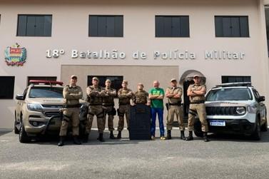 Havan presenteia PM de Brusque com recursos para novos equipamentos