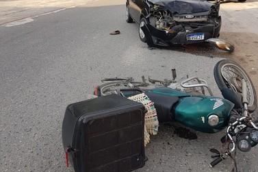 Motociclista fica ferido em acidente de trânsito em Guabiruba