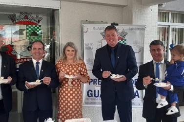 Autoridades e convidados comemoram 59 anos de emancipação de Guabiruba