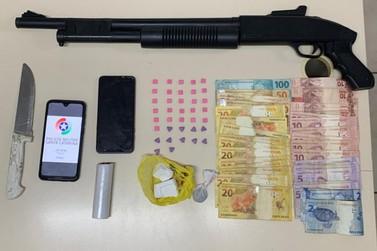 Polícia Militar prende homem por tráfico de drogas no bairro Limeira Baixa