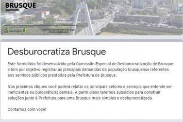 Canal para registro de problemas com burocracia é aberto em Brusque