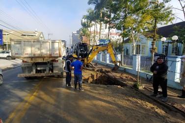 Samae: rompimento de rede pode deixar seis bairros sem água em Brusque