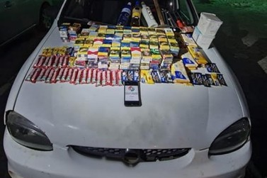 Carro e objetos furtados durante a madrugada são recuperados pela PM