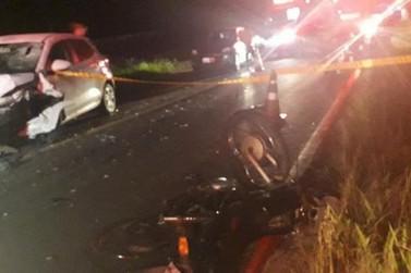 Motociclista morre após ser arremessado em colisão frontal em Gaspar
