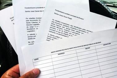 Abaixo assinado de jornalista brusquense pede o fim do ponto facultativo